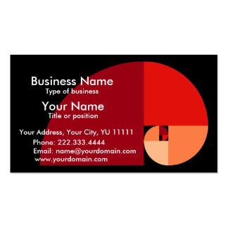 Golden Mean, Fibonacci Spiral Art Double-Sided Standard Business Cards (Pack Of 100)