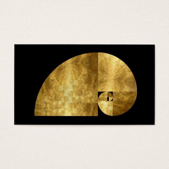 Golden Mean, Gold Leaf Image Business Card