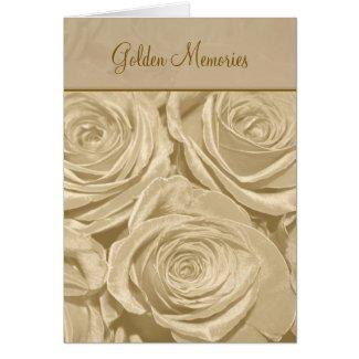 Golden Memories Anniversary Card