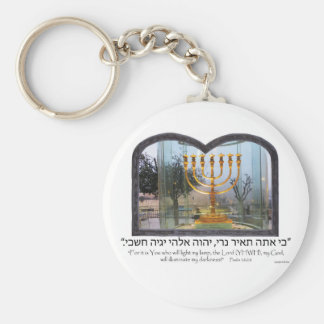 Golden Menorah Keychain