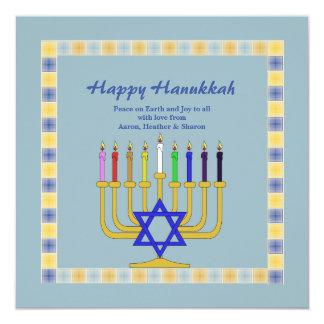 Golden Menorah Reversible Photo Holiday Card