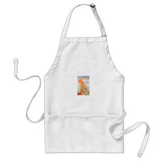 golden mermaid apron