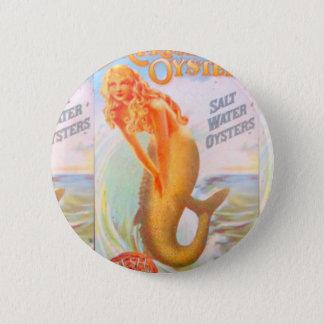 golden mermaid button