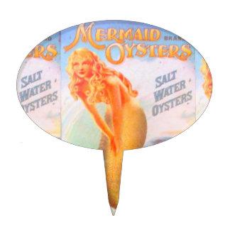 golden mermaid cake pick