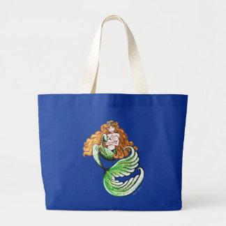 Golden Mermaid Mama Tote Jumbo Tote Bag