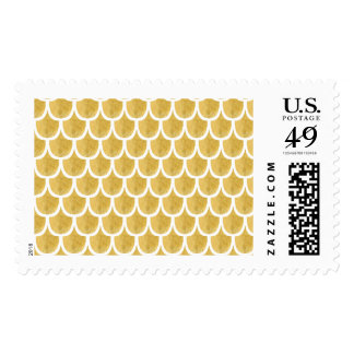 Golden Mermaid Pattern Art Postage