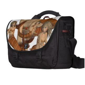 Golden Mermaids Laptop Messenger Bag