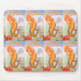 golden mermaids mousepad