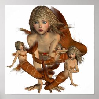 Golden Mermaids Poster