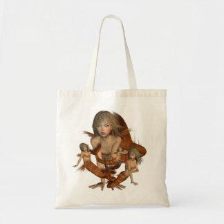 Golden Mermaids Small Tote Bag