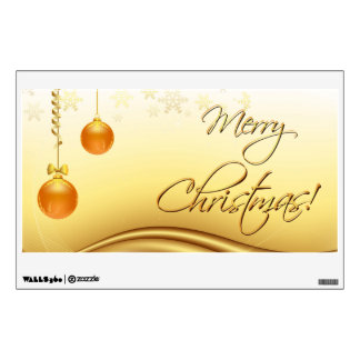 Golden Merry Christmas Wall Graphic