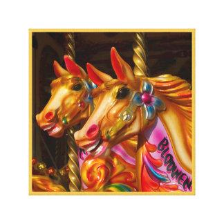 Golden Merry-go-round Series 17 Canvas Print
