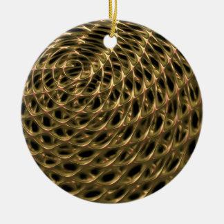 Golden Mesh Ceramic Ornament