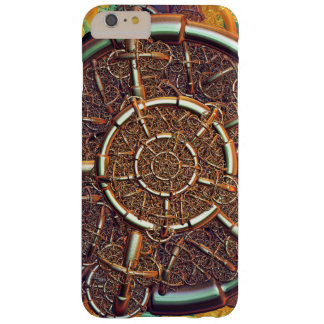 Golden metal abstract barely there iPhone 6 plus case