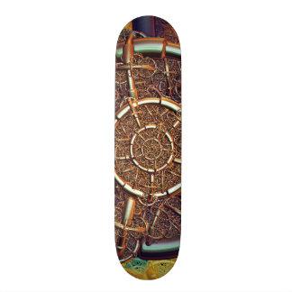 Golden metal abstract skateboard deck
