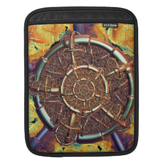 Golden metal abstract sleeves for iPads