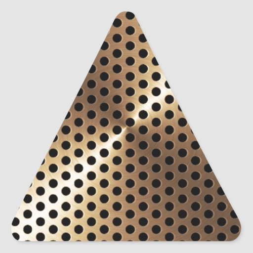Golden Metal Plate Triangle Sticker