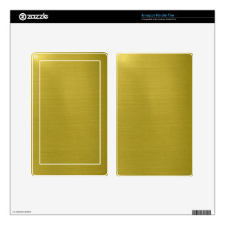 Golden Metallic Kindle Fire Decal