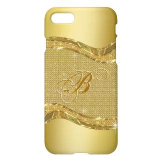Golden Metallic Look With Diamonds Pattern iPhone 8/7 Case