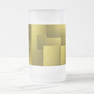 Golden Metallic Tile Frosted Mug