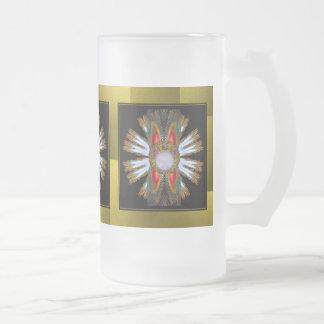 Golden Metallic Tiled  Frosted Mug