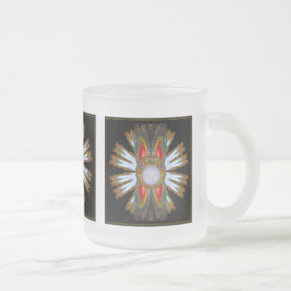 Golden Metallic Tiled  Frosted Short Mug
