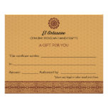 Golden Mexican Rose Gift Certificate Personalized Flyer