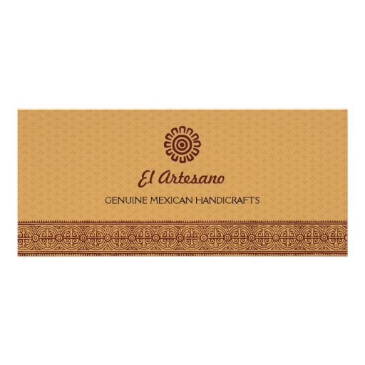 Golden Mexican Rose Gift Rack Card
