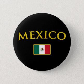 Golden Mexico Pinback Button