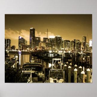 Golden Miami Marina Poster