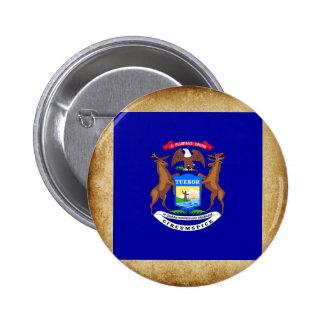 Golden Michigan Flag Button