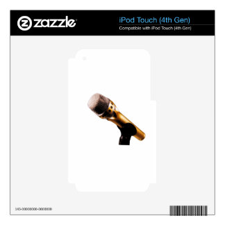 Golden Microphone Decals For iPod Touch 4G