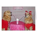 Golden Milkshake Valentine's Day Card