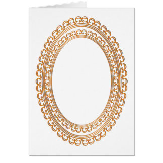 Golden Mirror Frame Template - Add your TXT or IMG Card