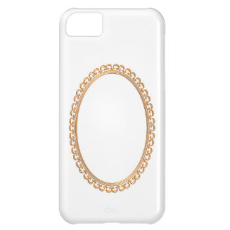 Golden Mirror Frame Template - Add your TXT or IMG Cover For iPhone 5C