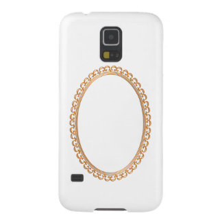 Golden Mirror Frame Template - Add your TXT or IMG Galaxy S5 Cases
