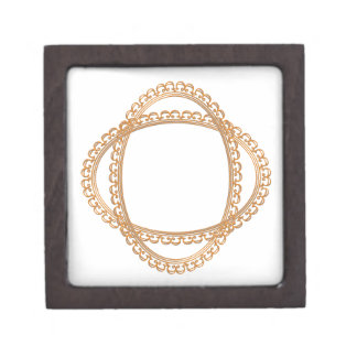 Golden Mirror Frame Template - Add your TXT or IMG Gift Box