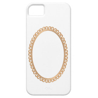 Golden Mirror Frame Template - Add your TXT or IMG iPhone SE/5/5s Case