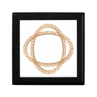 Golden Mirror Frame Template - Add your TXT or IMG Jewelry Box