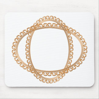 Golden Mirror Frame Template - Add your TXT or IMG Mouse Pad