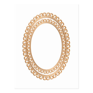 Golden Mirror Frame Template - Add your TXT or IMG Postcard