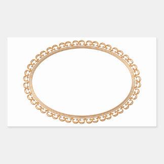 Golden Mirror Frame Template - Add your TXT or IMG Rectangular Sticker
