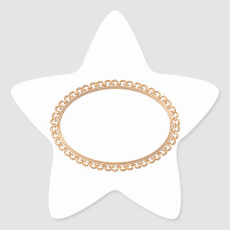 Golden Mirror Frame Template - Add your TXT or IMG Star Sticker