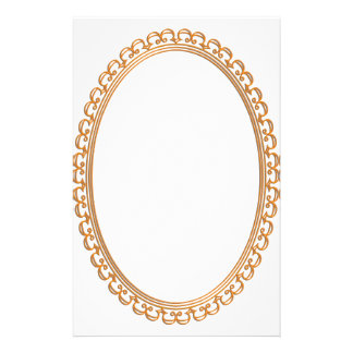 Golden Mirror Frame Template - Add your TXT or IMG Stationery