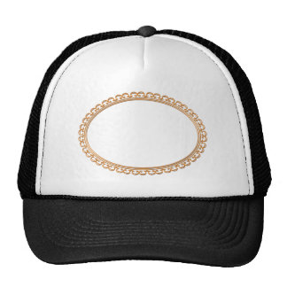 Golden Mirror Frame Template - Add your TXT or IMG Trucker Hat