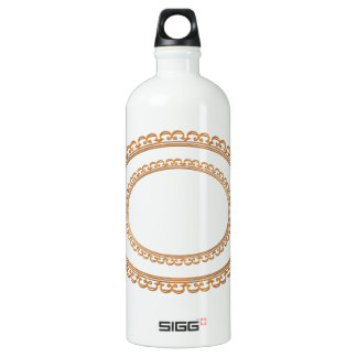 Golden Mirror Frame Template - Add your TXT or IMG Water Bottle