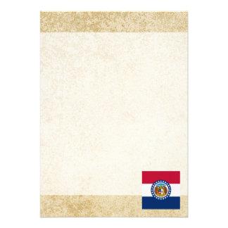 Golden Missouri Flag Card