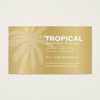 Golden Mobile Tanning Salon Business Card