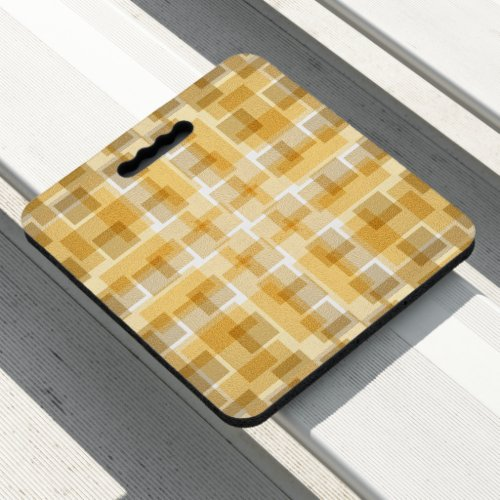 Golden Modern Pattern Seat Cushion