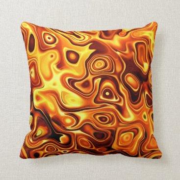 Beach Themed Golden Molten Metallic Decorative Accent Pillow